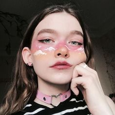 Super cool makeup looks make up ideas Cute Makeup Looks, Makeup Eye Looks, Eye Makeup Art, Halloween Makeup Looks, Crazy Makeup, Pretty Makeup, Angel Makeup, Fairy Makeup, Mermaid Makeup