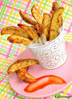 baked potato wedges  edit: super easy! I didn't have all the spices on hand and just used olive oil, salt, pepper, and minced garlic. very yummy.