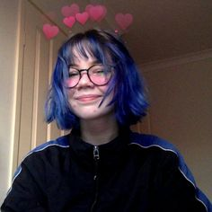 ᴄʜᴇsᴛᴇʀғɪᴇʟᴅ Hair Inspo, Hair Inspiration, Short Blue Hair, Shot Hair Styles, Aesthetic Hair, Coloured Hair, Dye My Hair, Pretty Hairstyles, Pretty People
