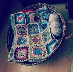 I don't crochet but this blanket by Lucy at Attic24 was so gorgeous I couldn't help myself.  I'm two thirds of the way through it.
