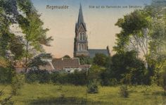 Regenwalde, Pommern: Marienkirche vom Schlossberg