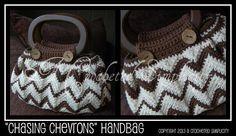 Crocheting: 'Chasing Chevrons' Handbag / Purse by A Crocheted Simplicity  6/21/2013