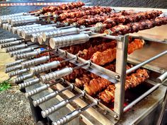 748 Mesquite Fire Kissed Rotisserie Parmesan Crusted Hotwing Pieces (34 skewers). #WorldBBQBoogieisComing!