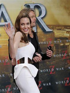 Birthday girl Angelina Jolie achieves red-carpet perfection in white strapless dress | Gallery | Wonderwall
