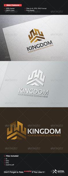Kingdom Logo Design Template Vector #logotype Download it here:  http://graphicriver.net/item/kingdom-logo-template/7405066?s_rank=100?ref=nexion