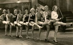 A chorus line from the 1931 pre code film Anybody's Blonde!