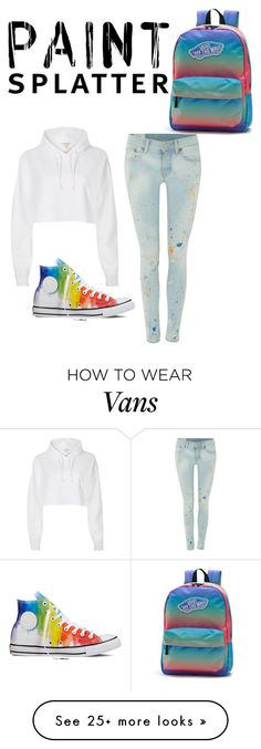 """""""Pant Splatter Challenge"""" by lilyf20 on Polyvore featuring Polo Ralph Lauren, River Island, Converse, Vans and paintsplatter"""