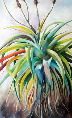'Unexpected' x Oil on canvas by Ellie Eburne Oil On Canvas, Canvas Art, Art For Art Sake, Botanical Art, Flower Art, Cactus, Succulents, Projects To Try, Illustration Art