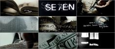 """Se7en movie title sequence. by Kyle Cooper (Imaginary Forces). Integrating graphic design, motion, and interactive media. """"Everything starts with the words. I read the script. If the script is based on a  novel, I try to read the book. I like it when main title stop into somebody's obsession."""""""