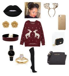 """Untitled #116"" by tytiana-ransom on Polyvore featuring WithChic, Casadei, MICHAEL Michael Kors, Miriam Haskell, Vanessa Mooney, Freedom To Exist and Annello"