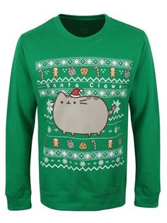 It's going to be a very fluffy Christmas with this one around! Podgy, stumpy legged and so adorable, Pusheen the cat has been placed on this festive jumper - peppered with candy canes, cookies and presents! Official merchandise.