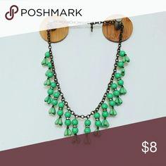 Green Statement Necklace Green Statement Necklace Jewelry Necklaces