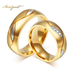 Meaeguet Couple Rings For Women Men Cubic Zirconia Wedding Ring Gold Plated Stainless Steel Female Jewelry     Tag a friend who would love this!     FREE Shipping Worldwide     Get it here ---> http://jewelry-steals.com/products/meaeguet-couple-rings-for-women-men-cubic-zirconia-wedding-ring-gold-plated-stainless-steel-female-jewelry/    #silver_earrings
