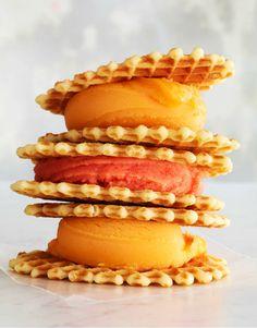 waffle cone ice cream sandwiches! awesome idea