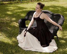 Black Linen Pixie Skirt Renaissance Halloween by CrystalKittyCat, $47.00
