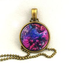 10% SALE Necklace Blue Purple Galaxy Jewelry, Universe, Space, Pendant Necklaces,Constellation,Gift For Her