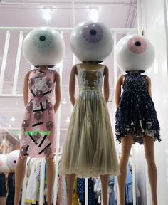 Add odd objects as heads. Fruit, Veg, Sport items, Shoes, lights. stylecurated: Style Snaps : LOOK AT ME, LOOKING AT YOU!