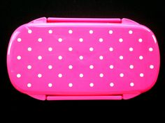 1 Tier Bento Box Pink With White Polka Dots