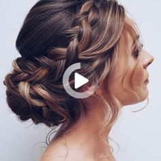 Braided Hairstyles Updo, Wedding Hairstyles For Medium Hair, Short Wedding Hair, Bride Hairstyles, Bridesmaid Hairstyles, Medium Hair Styles, Short Hair Styles, Prom Hair Updo, Balayage Hair
