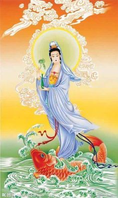 Buddhist Symbols, Buddhist Art, Religious Images, Religious Art, Chinese Painting, Chinese Art, Geisha, Native American Paintings, Goddess Art