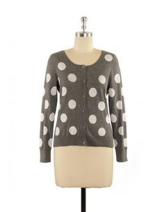 $39.99 French style polka dot cardigan is always ranking top on our cloth wish list. The grey and white color combination makes it go with almost any color of bottom as you wish. Made of Egyptian cotton, this cardigan will make you fall in love with hundreds of different reasons. 100% Cotton Front closure Cold water/ machine wash Imported http://www.lavielentefashion.com/early-spring/naughty-polka-dots-cardigan-1204.html
