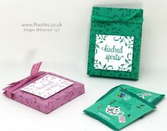 Stampin' Up! Demonstrator Pootles –First Sight Hand Stamped Tea Boxes Spin it, then Pin it! Ah, the pretty packaging of the English Tea Company tea bags. Aren't they gorgeous? Ri…