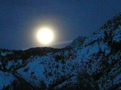 Moonrise over Mt. Olympus