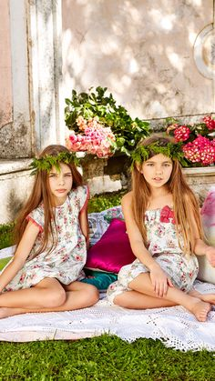 Sunny Days in the Garden Fashion Kids, Little Kid Fashion, Preteen Girls Fashion, Tween Girls, Beautiful Little Girls, Cute Little Girls, Cute Kids, Kids Summer Dresses, Summer Girls