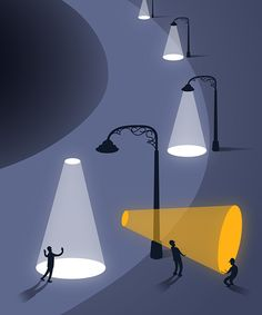 Editorial Illustrations: Part II by Tang Yau Hoong, via Behance
