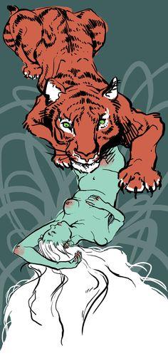 The Tiger Who Came to Tea. by Tarrigan.deviantart.com on @deviantART