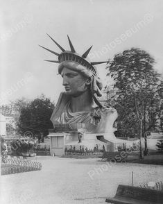 Huge Statue Of Liberty Head Stunning 8x10 Reprint Of Old Photo