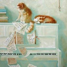 post-johann:    heyyoukaren:    #Piano #Cat #score #music now i have to put my music back in the right order