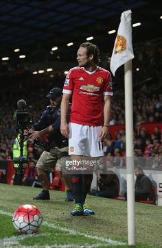 Daley Blind of Manchester United in action during the Barclays Premier League match between Manchester United and AFC Bournemouth at Old Trafford on May 17, 2016 in Manchester, England.