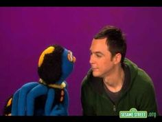 jim parsons on sesame street and running from an arachnid