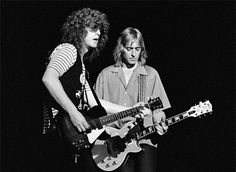 Ian Hunter and Mick Ronson. What a duo. RIP Mick.