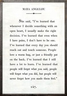 """2' x 3' Book Collection Art Print. White Background Reclaimed Wood Frame Quote: She said, """"I've learned that whenever I decide something with an open heart, I u"""