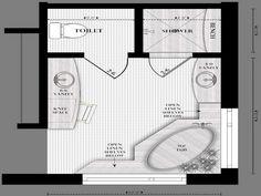 Master Bath Floor Plans With Dimensions Bathroom Design