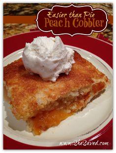 Easier Than Pie Peach Cobbler Recipe