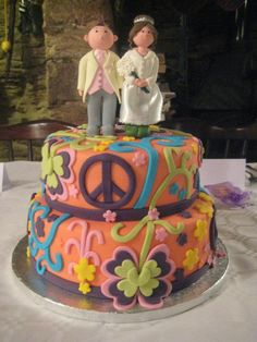 Hippy Wedding Cake