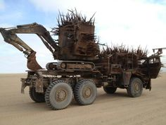 "The set of ""Mad Max: Fury Road"". Cars"