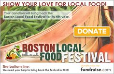 4th Annual SBN Boston Local Food Festival, Boston, MA Sunday, October 6, 2013, The Rose Kennedy Greenway 11am - 5pm, FREE New England's largest one day farmers market and premier food event promoting the joys and benefits of eating local food. Web: www.bostonlocalfoodfestival.com Facebook: bostonlocalfood, Twitter: @bostonlocalfood Williams Williams  #BLFF2013
