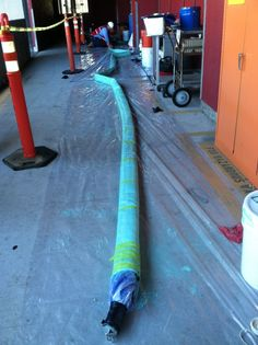 Our structural liner ready for installation at a Chevron facility.