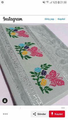 Easy Cross Stitch Patterns, Simple Cross Stitch, Cross Stitch Borders, Cross Stitch Flowers, Cross Stitch Charts, Cross Stitch Designs, Cross Stitch Embroidery, Hand Embroidery, Embroidery Designs