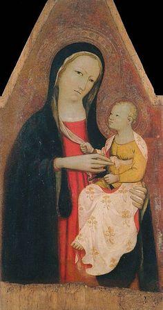 Rossello di Jacopo Franchi - Madonna col Bambino ( 1410-1420 ) - Museo di Arte Sacra, Tavarnelle Val di Pesa.
