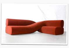 A new twist on an old idea!  Modern Sofas furniture designs. It looks like a chromosome!