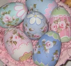 Every Year, for the past 9 years, I have been hand painting these lovely wooden easter eggs!  They have become a favorite to many of the cus...