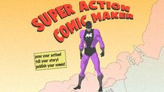 super action comic maker - This is awesome! Great for reluctant writers or fast finishers! Comic Book Maker, Picture Book Maker, Superhero Background, Comics Maker, Read A Thon, Smart Board Lessons, Learning Web, Digital Storytelling, Instructional Technology