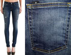 SAVE UP TO 90% OFF CURRENT RETAIL! *NEW* STROM Skinny Jeans Tio Jaguar (Blue) Stretch 27 Made in USA CURRENT $209+ #STROM #SlimSkinny