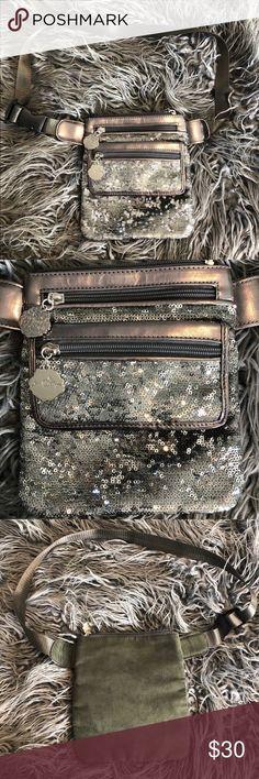 Joan Boyce Purse Joan Boyce Purse with silver sequins and grey velvet back.… – My Posh Picks - Trend Silver Sequin Skirt, Sequins, Velvet, Purses, Grey, Crossbody Bags, Style, Fashion, Handbags
