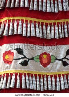 Dress Of Female Native American Indian Jingle Dancer Stock Photo . Native American Dress, Native American Regalia, American Indian Art, Native American Fashion, Jingle Dress Dancer, Powwow Regalia, Red Indian, Native Style, Jingle All The Way